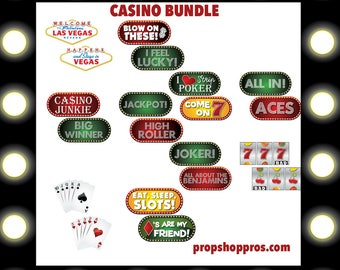 Casino Photo Booth Props | Las Vegas Props | Las Vegas Signs | Casino Signs