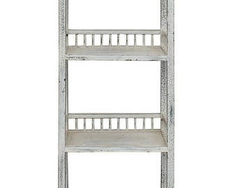wholestoreSALE Chinese Distressed Off White Simple Slim Display Bookcase Cabinet cs2960E