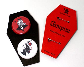 Vampire 2 Pin button set