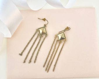Chain Earrings - Long Chain Earrings - 90s Earrings - Drop Earrings - Dangle Earrings - Chandelier Earrings - Chains - Chain Jewelry - Gift
