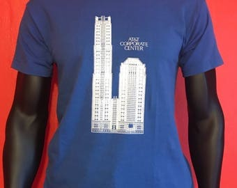 AT&T Chicago The Franklin architecture vintage Velva Sheen shirt
