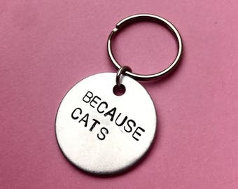 Cat lover gift, Cat lady, Cat lovers, Crazy cat lady gift, Kittens, Cats, Personalised Engraved keychain, Gift idea, Cat housewarming gift
