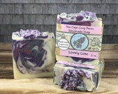 Lovely Lilac Soap, cold process soap, handmade soap
