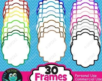 75% OFF SALE Frames Clipart, Commercial Use, Labels - UZ839
