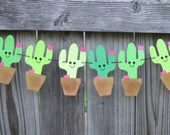Cactus Banner * Cactus Bunting * Cactus Sign *