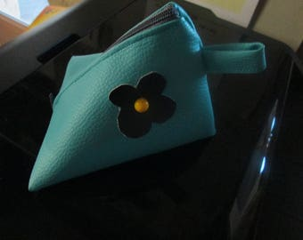 Cherry faux turquoise leather wallet