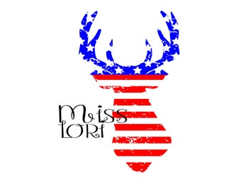 Buck head flag distressed  SVG   cut file  t-shirts  animals  4th of julyscrapbook vinyl decal wood sign t shirt cricut cameo