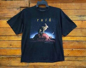 Rare Vintage Rush Rock Band T Shirt, Size XL, Rush Band Shirt, Rock Music, 90s Rush