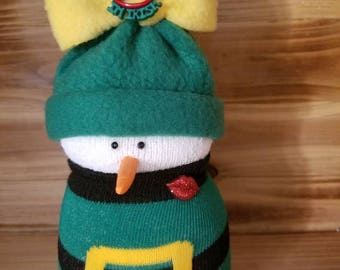 St. Patrick's Sock Snowman