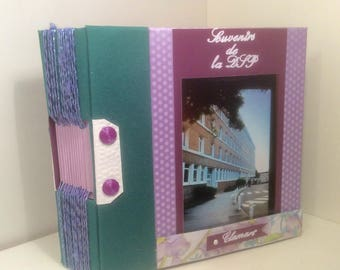 """Guest book or album for PHOTOS """"memories"""" binding apparent customizable title and names"""