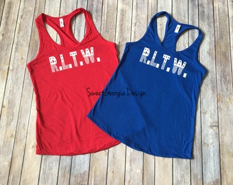 R.L.T.W. Army Ranger Stars and Stripes Tank! Fourth of July/Independence Day/Military/America/Merica/Rangers