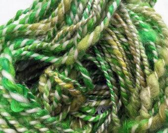 Sour Apple - Hand Spun, Hand Dyed Alpaca Yarn