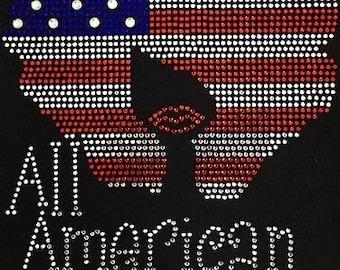 All American Girl Natural Rhinestone T-Shirt