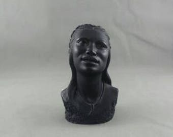 Vintage Coco Joe's Bust - Female Polynesian Beauty - Made with Lava