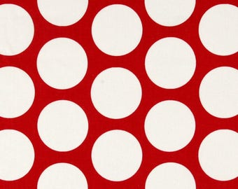 Premier Prints Fabric | red Dandie Dot Fabric | Designer Fabric | Upholstery Fabric | red fabric | Fabric by the yard | polka dot fabric