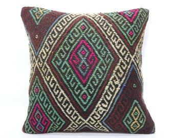 Emroidered Pillow 20x20 Decorative Kilim Pillow Sofa Pillow Cushion Cover Emroidered Rainbow Kilim Pillow Home Decorative Pillow SP5050-1853
