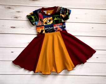 Harry Potter Dress - Gryffindor Dress - Harry Potter Gifts for Girls - Hogwarts Dress - Girls Harry Potter Gift - Harry Potter Toddler Dress