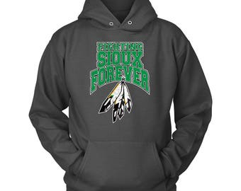 FIGHTING Sioux Forever Unisex Hoodie - Washed Logo