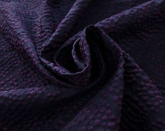 990111-131 JACQUARD-Se 36%, Ce 32%, Pl 21%, Pa 11%, Width 135 cm, made in Italy dry cleaning weight 215 gr