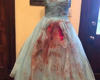 Zombie prom dress 80's or 50's small