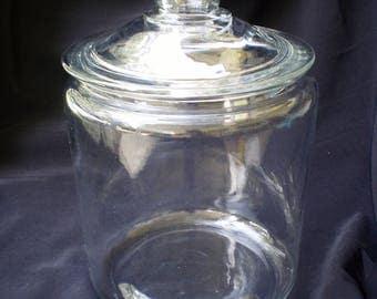 vintage glass cookie jar rare one gallon sale item