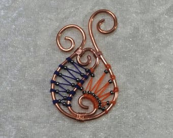 """Pendant """"Copper"""" - shell and crustacean Collection"""