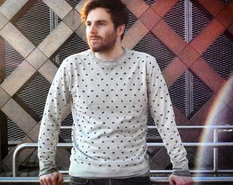 Seek 'n Hide  Men's, Elephant All over printed crew neck , made of 100% bio cotton, , fair trade