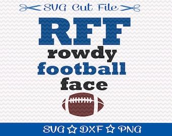 Football SVG file / SVG Cut File for Silhouette / Super  Bowl SVG / Superbowl svg / Sports svg / Football Player Svg / Rowdy Football Face