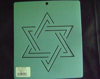Traditional Quilting Stencil 6 in. Star of David Motif Block/Quilting