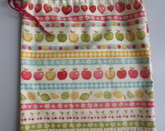 small pouch fabric zero waste for packing food