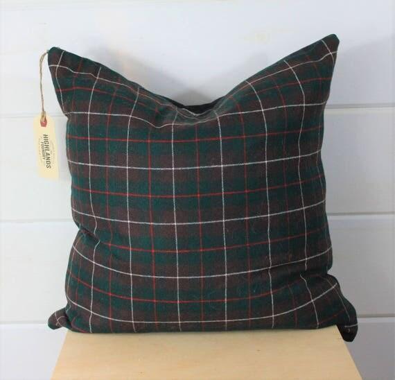 Wool Tartan Pillow Cover