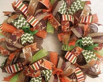 SALE Harvest Decor, Fall Wreath, Fall Wreaths, Harvest Wreath,Thanksgiving Wreath, Happy Harvest Wreath, Harvest Decor