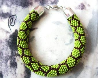 green bracelet bead modern bracelet beaded rope bead bracelet women bracelet girlfriend gift for her bead charm bracelet exclusive bracelet