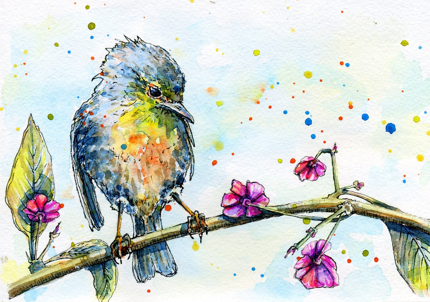 Bird Clipart Bird Watercolor Bird Vector Summer Clipart