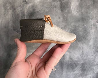 The Alex Mocs | Mocs | Baby Mocs | Baby Moccasins | unisex mocs | soft soled shoes | moccs | baby gift | flower girl