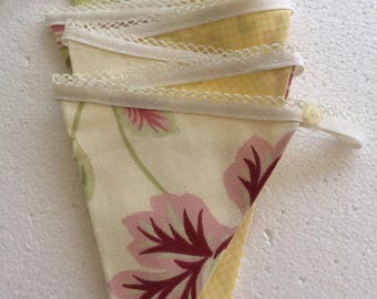 Cream flower bunting  - floral bunting