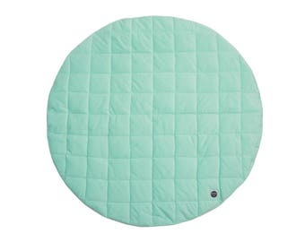 Mint Baby Play Mat / Quilted Play Mat / Padded Play Mat / Round Play Mat / Floor Mat / Baby Rug / Kid's Rug / Floor Rug