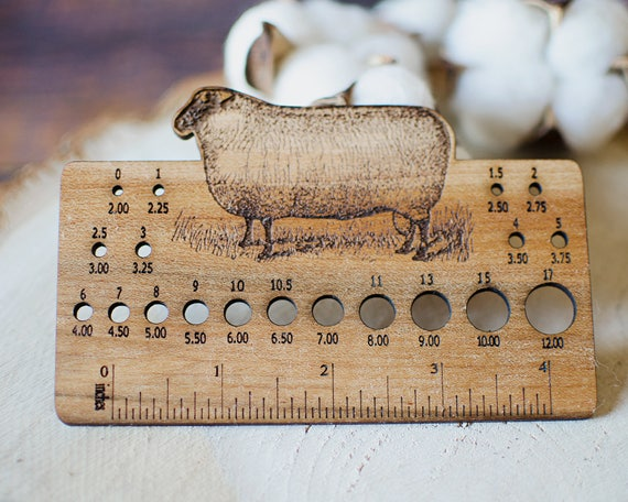 Knitting Needle Sizes In Metric And Imperial : Knitting needle gauge betty the sheep knit