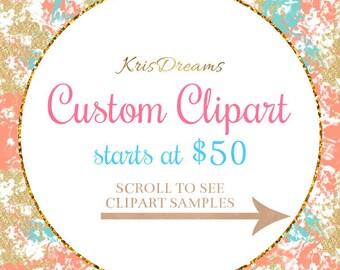 Custom Clipart Design, Exclusive Clipart Illustration, KrisDreams Exclusive Commercial Illustration, Commercial Graphic, jpeg, png, pdf