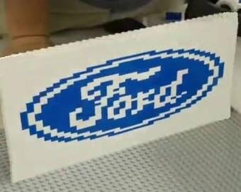 Lego FORD Motor company logo Custom INSTRUCTIONS ONLY truck car Moc