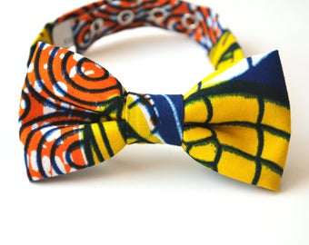 Bow tie man, adjustable, knotted WAX cotton
