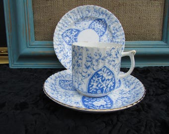 Blue and White Coffee Trio