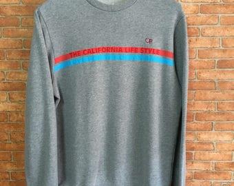 Vintage Op Ocean Pasific Sweatshirt Pullover Jumper Grey L