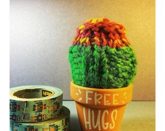 Free Hugs knit succulent