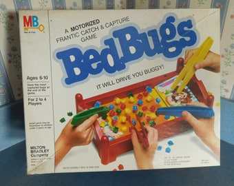 "Vintage Bed Bugs Game from 1985 by Milton Bradley Requires 2 ""C"" Cell Batteries (Not Included)"