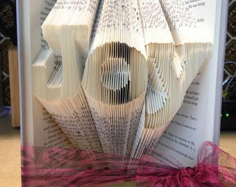 Joy Folded Book - Christmas - Book Lover - Mother's day- Holiday