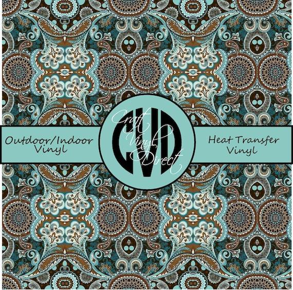 Beautiful Patterned Vinyl // Patterned / Printed Vinyl // Outdoor and Heat Transfer Vinyl // Pattern 689