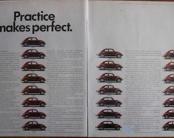 1970 VW Bug ad.  1970 VW Beetle ad. Vintage VW Bug ad. 1970 Volkswagen Beetle ad.   Life Magazine.  July 17, 1970.
