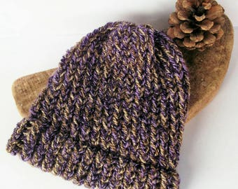 SALE -  Purple baby hat, brown baby hats, baby hat, knitted baby hat, girl baby hat, baby boy hat, toddler hat, baby gift, toddler hats
