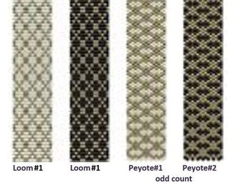 Beading Loom – Peyote (Odd Count)  Pattern Bracelet «Lace» Beading Tutorial Instant Download